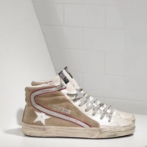 Used- Golden goose slide suede/ leather sneakers